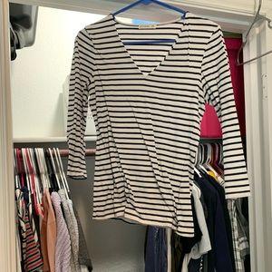 Stripe cotton on long sleeve